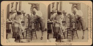 The new woman, wash day (1897) - Boston Public Library